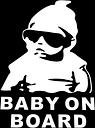 Lindo lindo bebé fresco sombrero gafas de sol a bordo de patrón de coches pegatina ventana ventana reflectante 3D coche parabrisas trasero divertido fuera de estilo auto decoración de vehículos fijados portada portátil camiones accesorios
