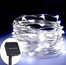 12W 20M / 65.6Ft 200 LED de Energía Solar Energy Copper Wire Fairy String Light (Blanco)