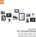 13 unids / lote Xiaomi Eco-chain H7 MDF Fiber-plate Calidad Marco de fotos de época