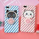 Conejo con el fondo negro para el caso de iPhone6 / 6S El estrés apretado lindo del silicón TPU Shell de 3D empuja los juguetes Mobliephone contraportada