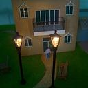 Modelo solo cabeza jardín lámparas 1: 100