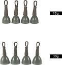 4pcs trasera conduce Peso hilo de pescar clips seguros trastos desgaste accesorio Diseño nano-recubrimiento resistente