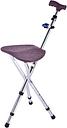Asiento de caña plegable Asiento de silla de muleta de aleación de aluminio grueso Taburete de caña