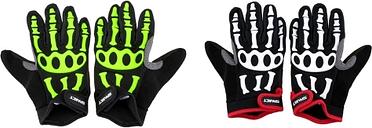 Antideslizante completa spakct hombres dedos guantes ciclismo transpirables resistente a los golpes