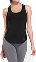 Lixada mujeres Racerback sin mangas camisa deportiva para correr gimnasio Yoga moda chaleco de Yoga