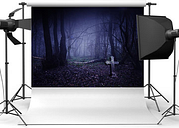 Halloween Deep Woods Photography Background Cloth Photography Background