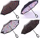 C shape Windproof Reverse Folding Double Layer Umbrella Inverted Rain Gear