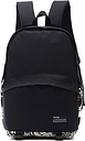 Women Black Print Pattern Canvas Backpack