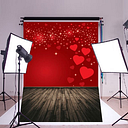 150x210cm Vinyl Red Loves Photo Background Photo Studio Backdrop Home Deco Wall Hanging