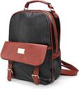 Women PU Leather Backpack Preppy Style Vintage School Bags