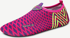 Large Size Colorful Stripe Pattern Slip On Yoga Water Shoes