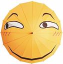 Folding Umbrella Funny Expression Emoji Face Long Umbrella Sunny Rainy Rain Gear
