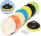 Drillpro 8Pcs 6 pouces en éponge et laine en polissage / tampon de tampon pour polisseuse automobile