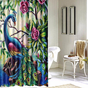 Bathroom 3D Printed Polyester Fabric Colorful Peacock Shower Curtain Waterproof Washable Bath Curtains With 12 Hooks