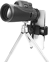 Moge 40x60 FMC Optical HD Lens Monocular With Tripod Phone Clip Portable Camping Travel Telescope