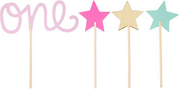 Baby Girl's First Birthday Cake Toppers