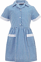 Colfe's School Girls' Junior Summer Dress, Blue/White