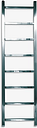 John Lewis & Partners Peel 1250 Dual Fuel Heated Towel Rail and Valves, from the Wall