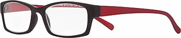 Magnif Eyes Burlington Admiral Unisex Ready Readers, Black/Red