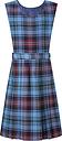 Howell's School Girls' Tartan Tunic Dress, Blue/Multi