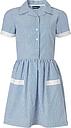 School Girls' Summer Dress, Blue/White