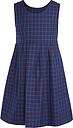 Winchester House School Girls' Tartan Tunic Dress, Blue