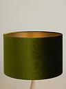 John Lewis & Partners Jenny Velvet Cylinder Lampshade