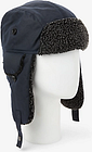 John Lewis & Partners Waxed Trapper Hat, Navy