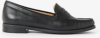 John Lewis & Partners Penny Leather Moccasins, Black