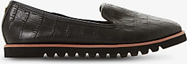 Dune Galleon Ridged Leather Loafers