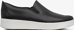 FitFlop Sania Skate Leather Slip-On Trainers