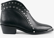 hush Alnwick Leather Stud Detail Ankle Boots