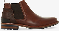Dune Coins Leather Chelsea Boots, Brown