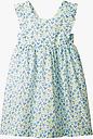 Mini Boden Girls' Strappy Floral Dress, Sky Blue