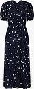 Monsoon Spot Print Button Through Midi Dress
