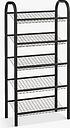 John Lewis & Partners 5 Tier Shoe Rack, Black