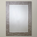 John Lewis & Partners Engraved Mirror, 102 x 76cm, Smoke