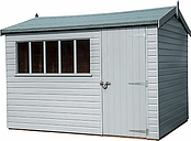 Crane 3 x 3.6m Windsor Garden Shed, FSC-certified (Scandinavian Redwood)