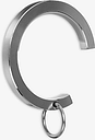 John Lewis & Partners Stainless Steel Lined Passing Rings, Pack of 6, Dia.25mm