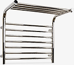 John Lewis & Partners Lunan Dual Fuel Heated Towel Rail and Valves, from the Wall