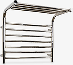 John Lewis & Partners Lunan Central Heated Towel Rail and Valves, from the Floor