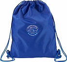 Dolphin School Unisex Drawstring Rucksack, Royal Blue