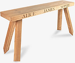 The Oak And Rope Company 2-Seat Personalised Bench, Medium
