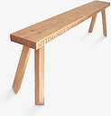 The Oak And Rope Company Personalised 4-Seater Garden Bench, Oak
