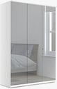 John Lewis & Partners Elstra 150cm Wardrobe with Mirrored Hinged Doors