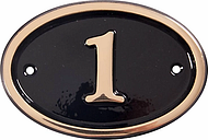 The House Nameplate Company Personalised Brass Oval House Number, W14 x H10cm