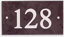 The House Nameplate Company Personalised Slate House Number, 3 Digit, W18 x H10cm