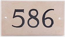 The House Nameplate Company Personalised Portland Stone House Number, 3 Digit, W18 x H10cm