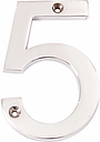 The House Nameplate Company Contemporary Chrome Numeral 5, H10cm