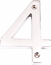 The House Nameplate Company Contemporary Chrome Numeral 4, H10cm
